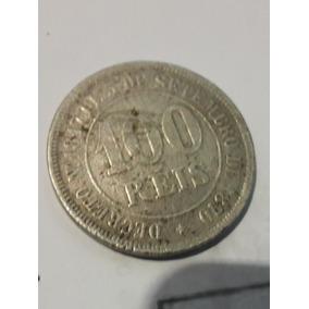 Moeda De 100 Réis De 1878.
