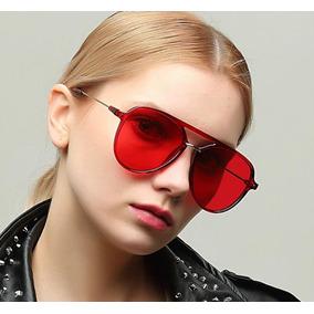 6b38187164091 Oculos Aviador Vermelho Transparente - Óculos no Mercado Livre Brasil