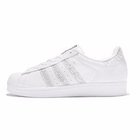 Tenis Para Mujer adidas Superstar Blanco-plata 5.5us 22.5mex