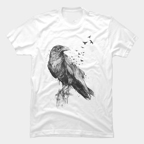 Playera Cuervo Crow Murcielagos Noche Geek Regalo 80cbc116eee1b