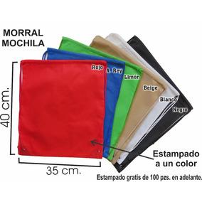 200 Mochila Morral 35*40 Cm Ecológica Publicidad Promocion