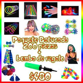 Paquete Fiesta Batucada 200 Boda Xv Años Neon Envío Gratis