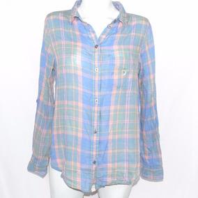 American Eagle Camisa De Cuardos De Colores S