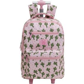 Kit (mochila Rodinha + Estojo Especial) Xeryus Teen Cactus