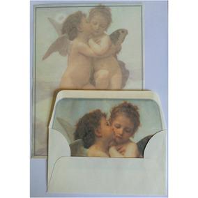 Conjunto Papel De Carta + Envelope Cupido E Psiquê Lote 33