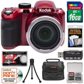 Cámara Digital Kodak Pixpro Az421 Astro Zoom Kit Rojo