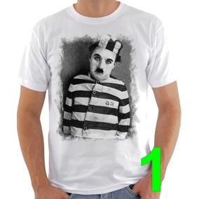 Camiseta Charlie Chaplin Camisetas - Camisetas e Blusas no Mercado ... 22fad63c795ec