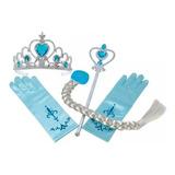 Elsa Frozen, Trenza(peluca), Tiara, Guantes, Cetro, Disfraz