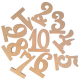 Los Titulares De Madera Número Mesa Boda 10pcs 1-10 Con La B