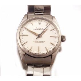Relógio De Pulso Rolex Oyster Perpetual Em Aço J17317