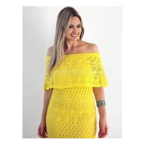 85b20e184 Vestido Tricot Amarelo - Vestidos Casuais Femininas no Mercado Livre ...