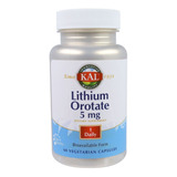 Kal Ultra Lithium Orotate 5mg Orotato De Litio 60 Caps