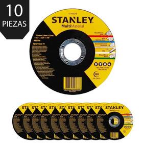 Set 10 Discos Multimaterial Abrasivos Esmeril 4 1/2 Stanley