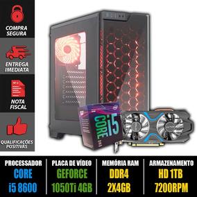 Computador Gamer Core I5 8600 + Gtx 1050ti + 8gb Ddr4 + Nf