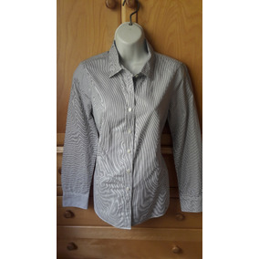 *j.crew* Camisa Talle Xs A Lineas Blanco Con Negro