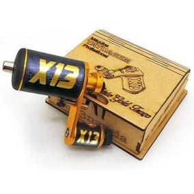 Maquina Tatuagem X13 Gold Traço Tattoo Cabo Rca + Brinde