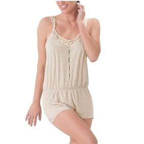 Pijama Short Love To Lounge Beige Jaspe 151244 Dama19 J