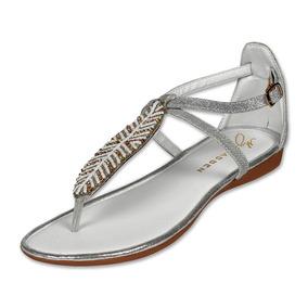 Calzado Dama Mujer Sandalia Clasben Plata Casual Cómoda