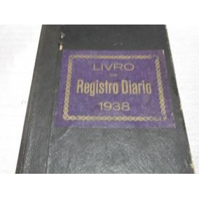 Livro Antigo Registro Caixa Diario - 1938