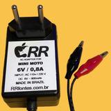 f873eda7f7d Fonte Carregador 6v Para Mini Moto Elétrica Bandeirante Nova