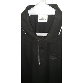 519d2bdca6513 Camisa Polo Lacoste Original Jacare Grande Tam G Preta