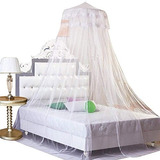 Gybest Ronda Encaje Cortina Dome Bed Canopy Red Princesa Mo