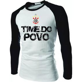 0233dda516 Camisa Camiseta Corinthians Raglan Manga Longa Timão Gavioes
