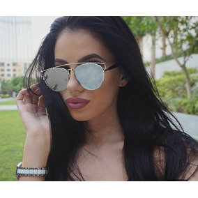 Oculos De Sol Feminino Geométrico Espelhado - Óculos no Mercado ... 89f2f28466