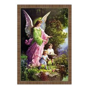 5e07023cf118e Quadro Religioso 70x100 Com Moldura - Anjo Da Guarda