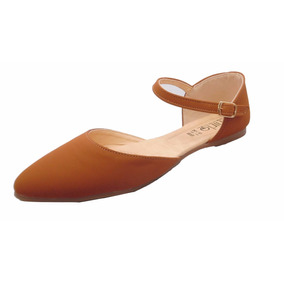 Zapatos De Pizo Flats Para Dama Color Tan