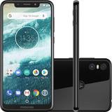 Celular Motorola One Preto 64gb 4gb Ram Tela De 5.9