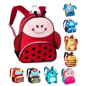 b4017a8fa Mochila Infantil De Animais Zoo G 3d Escola Creche Presente