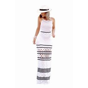 a811cb344 Lançamento! Vestido Tricô Linha Listras - Vestidos Longos Femininas ...