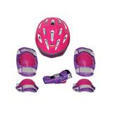 Kit Proteção Com Capacete Tamanho P Bel Sports Rosa Fd d2af1467c1