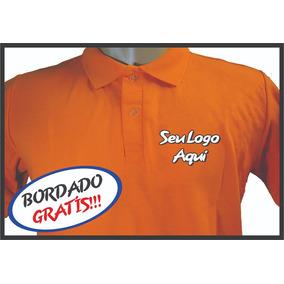 01f083b4ea Camisa Polo Logo Bordado Na Frente Tamanho 10cm X 10 Cm - Calçados ...