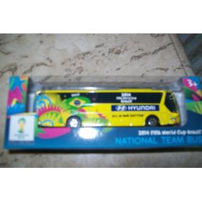 Miniatura De Ônibus - Oficial Do Brasil Na Copa 2014