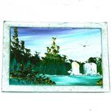 Oleo Sobre Vidrio Miniaturas 8x11 Cm. Paisajes, Valor X Set