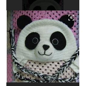 Touca De Croche Do Urso Panda - Calçados 320e0ebfbc4