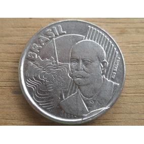 Moeda De 50 Centavos 2002 Com *cunho Quebrado* Rara
