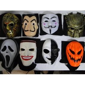 Kit Oito Mascara Carnaval Casa Papel Jason Vingança Abobora