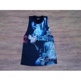 Blusa Regata Feminina Mcd Skull And Roses Camiseta d0af594e986