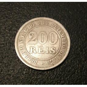 Moeda 200 Reis 1884 Em Ótimo Estado