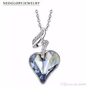 Collar Corazon Swarovski Elements Neoglory Cristal Austria