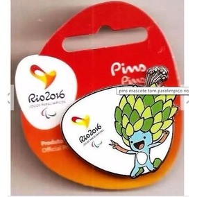 Pin Mascote Tom Paralimpico Rio 2016 - Oficial