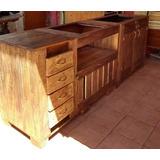 Mueble De Cocina Rustico - Hogar y Muebles en Mercado Libre Chile