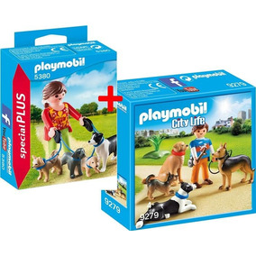 Playmobil 5380 9279 Set Cachorros Tratadora E Treinador Orig