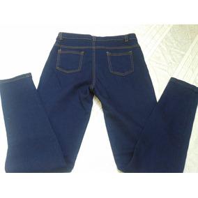 Pantalon Blue Jeans Azul Strech Dama Bota De Tubito Nuevo cbc2bbd495b7