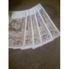 Cédulas Cent Francs - 1985 M.98 /1984 E.86, R.83, Q.84, A.79