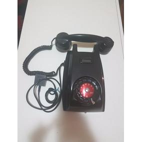 Telefone Antigo Ericsson, Preto Baquelite, Parede Anos 60