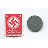Rare Nazi Swastika 1 Reichspfennig Moneda Alemana Segunda G